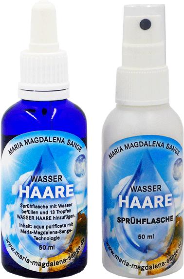 Lichtmatrix Haarwasser als Sprühflasche und Pipette