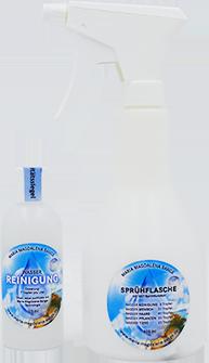 Sprühflasche und Flasche Wasser Reinigung von Lichtmatrix